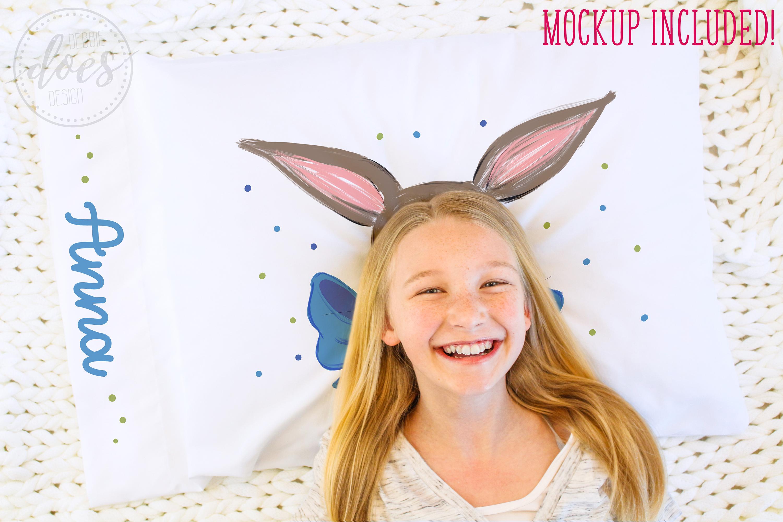 Easter Bunny Pillowcase Design & Mockup Bundle! example image 7