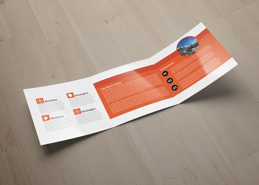Business Strategic Square Trifold Brochure example image 3