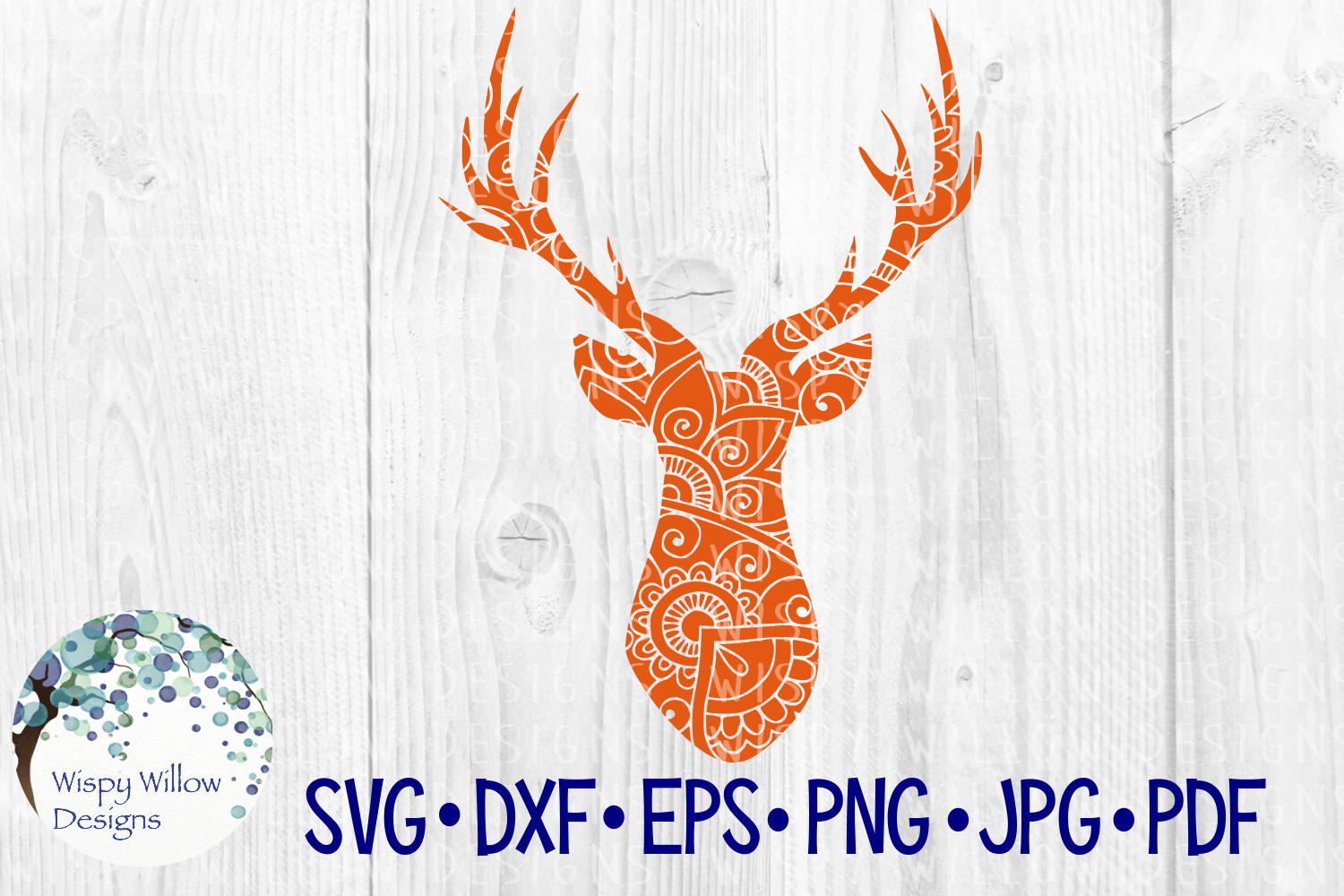 Deer Zentangle, Buck, Animal SVG Cut File example image 2