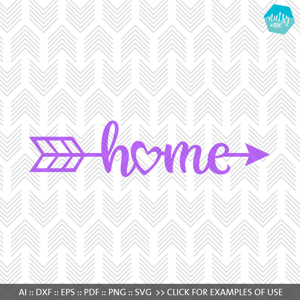 Home Arrow - SVG, AI, EPS, PDF, DXF & PNG FILES example image 1