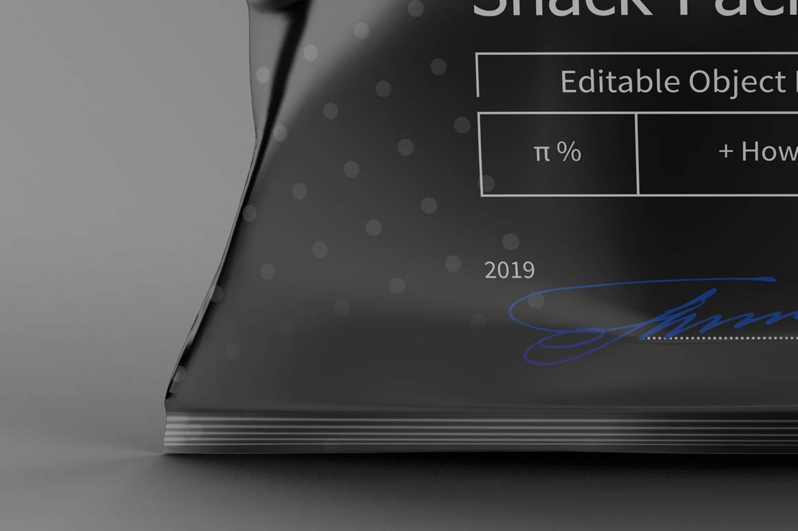 Black Plastic Snack Package Mockup example image 3