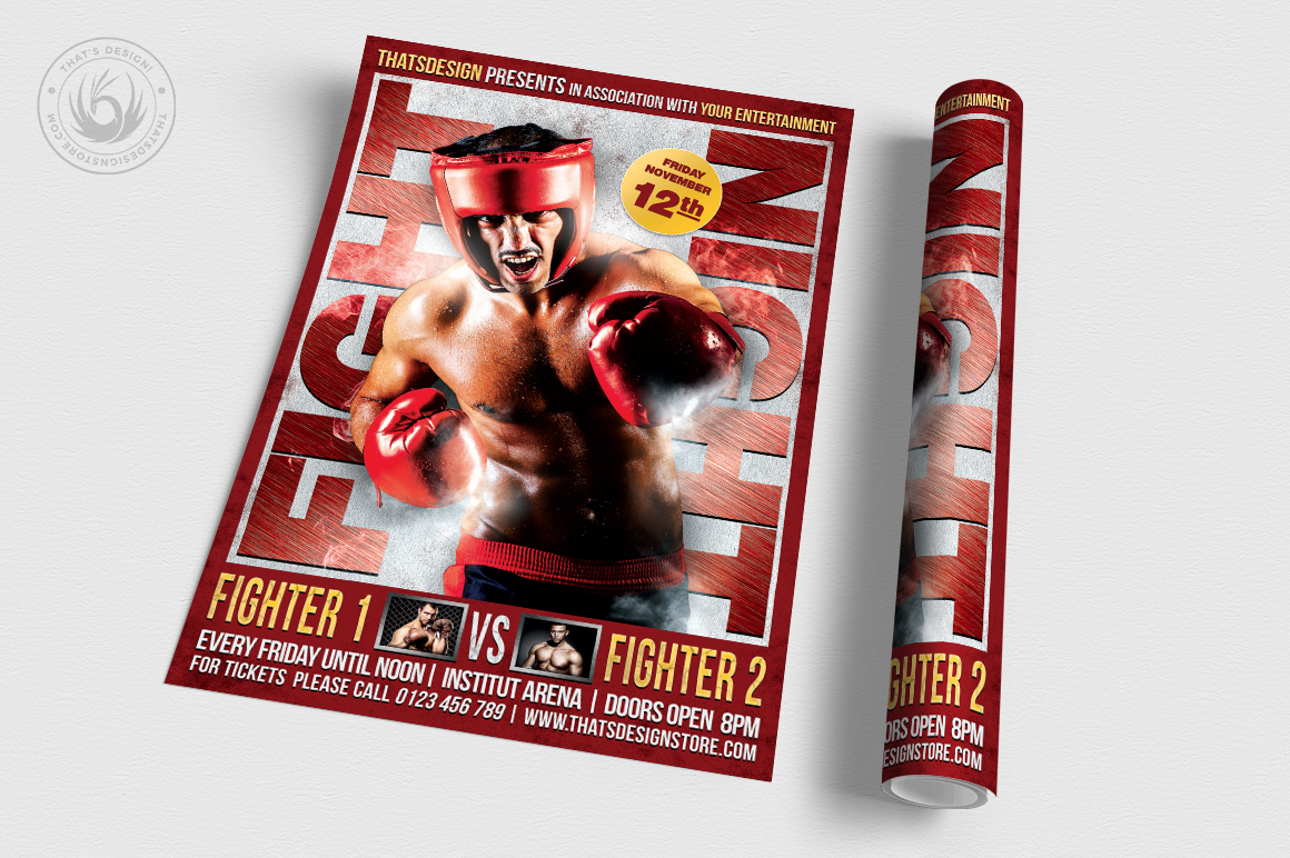 Fight Night Flyer Template V3 example image 3