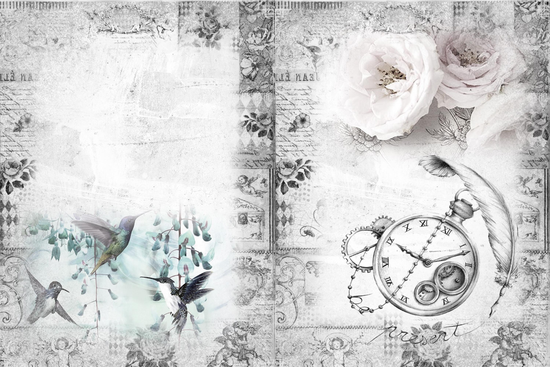 24 Printable Black and White Background Papers FREE Ephemera example image 6