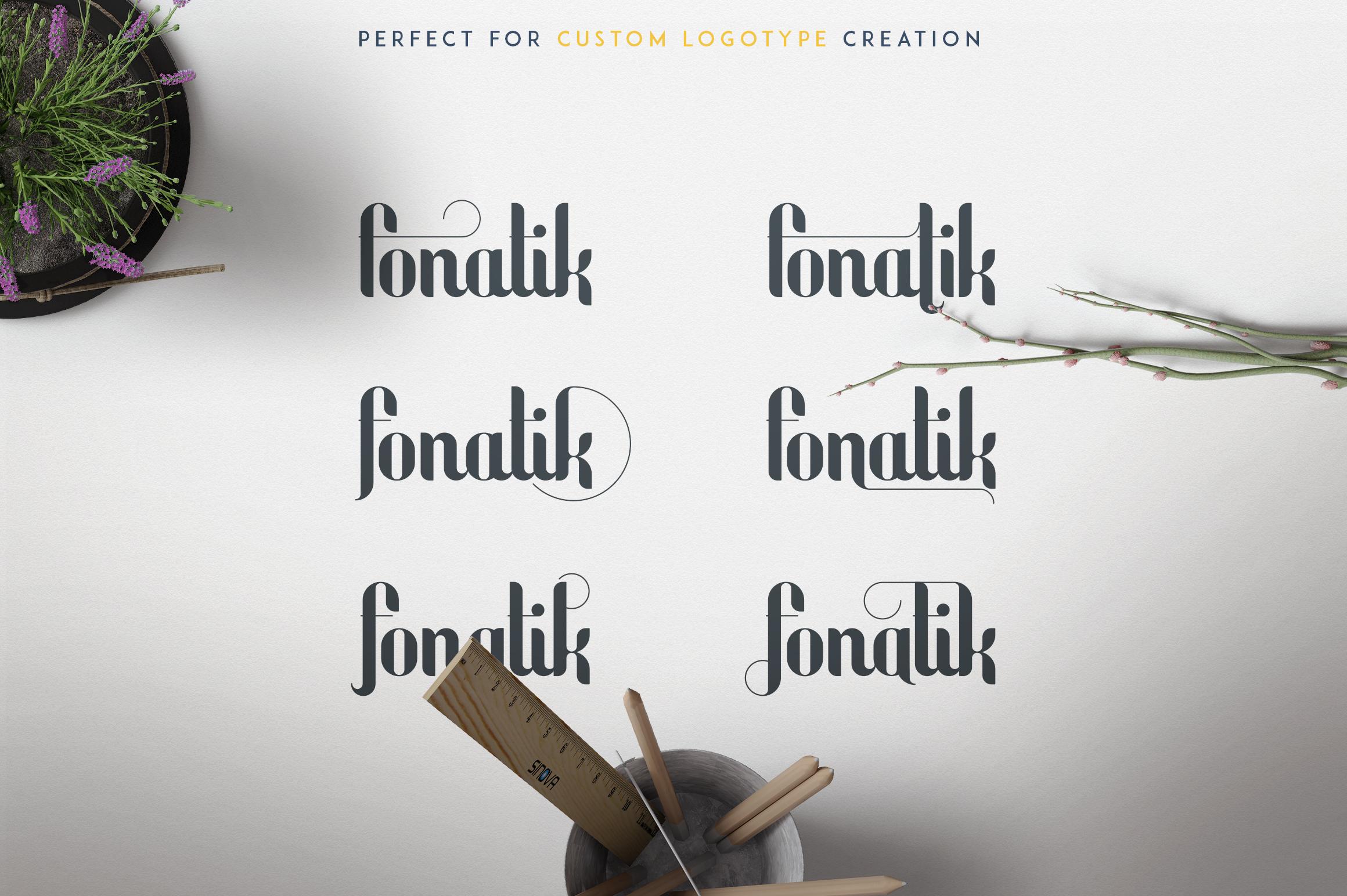 Fonatik Display font Extras example image 9
