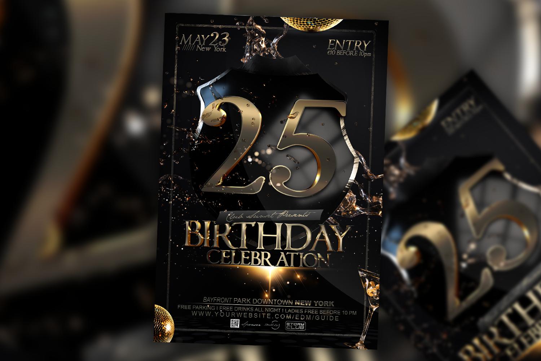 Birthday Bash Flyer example image 1