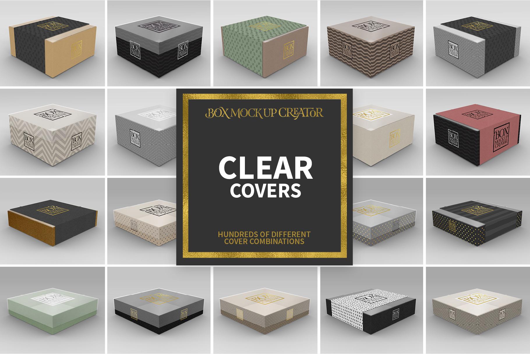 Square Box Packaging Mockup Creator example image 4