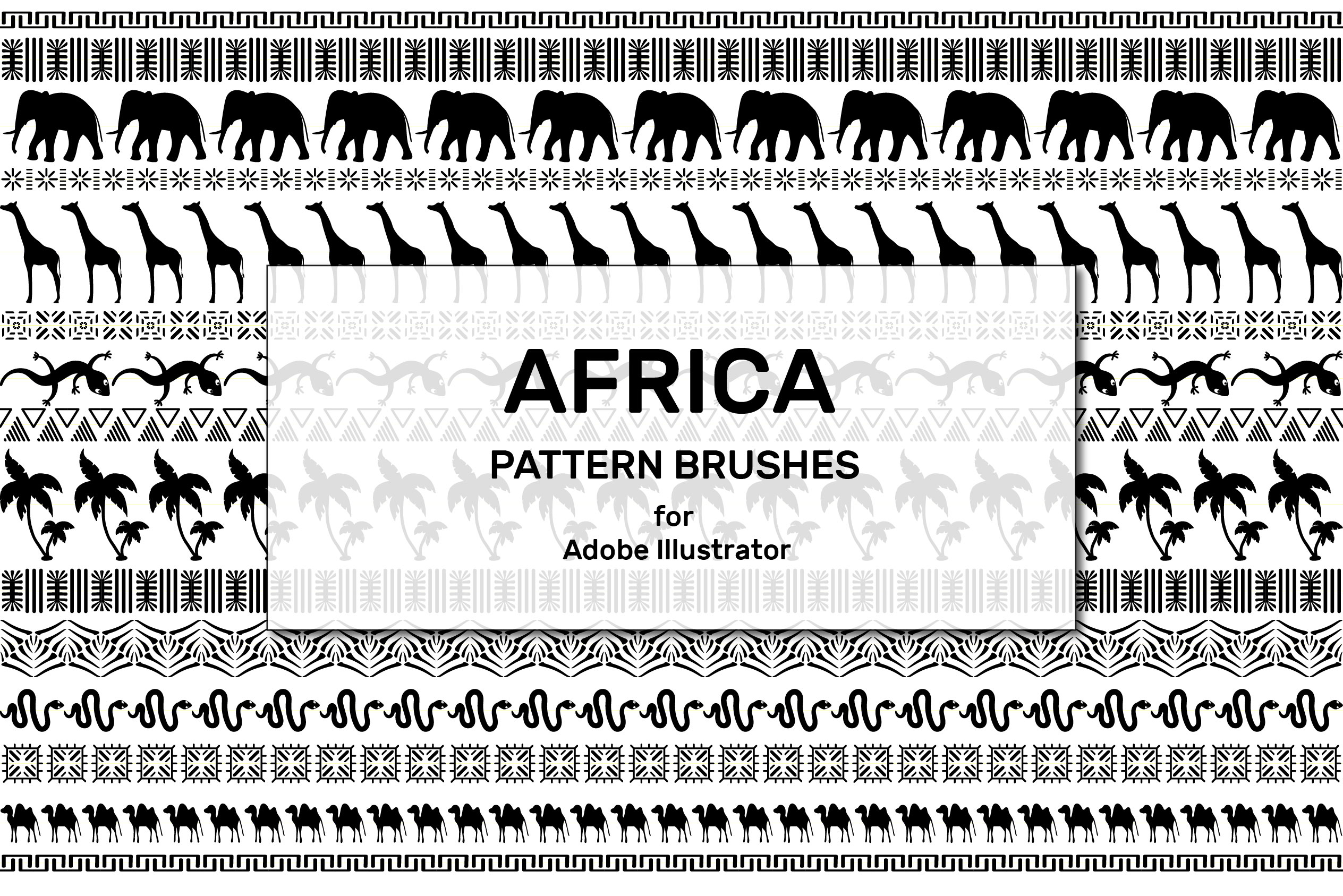 Africa Pattern Brushes for Illustrator example image 2