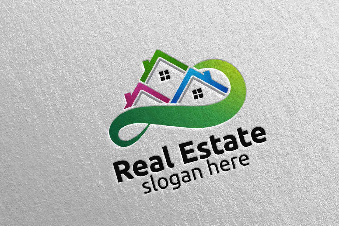 Real Estate Infinity Logo Design 41 example image 5