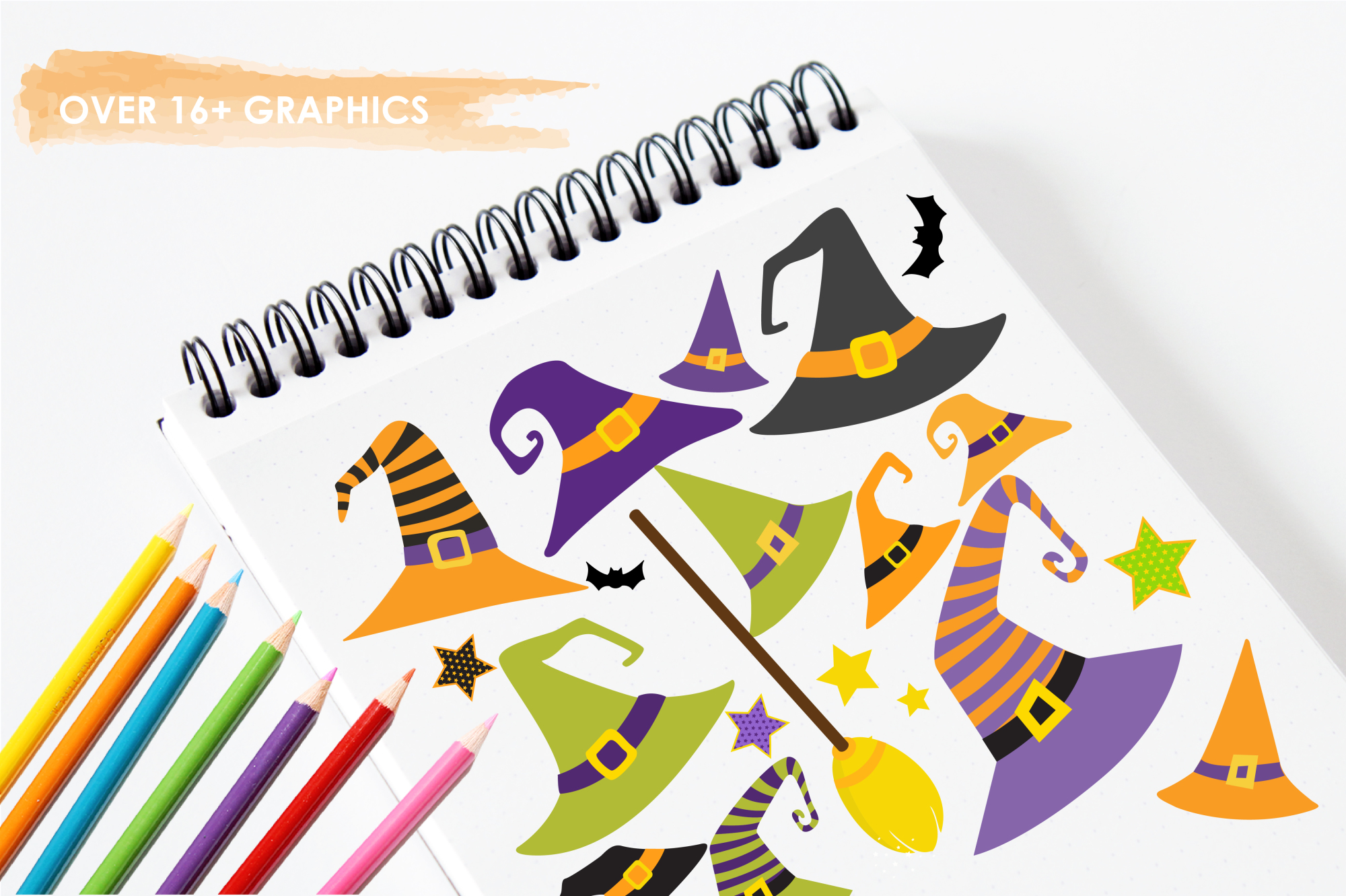 Halloween Hats graphics and illustrations example image 3