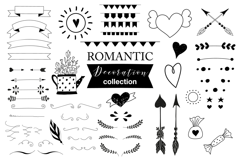 Hand drawn Romantic design kit example image 8