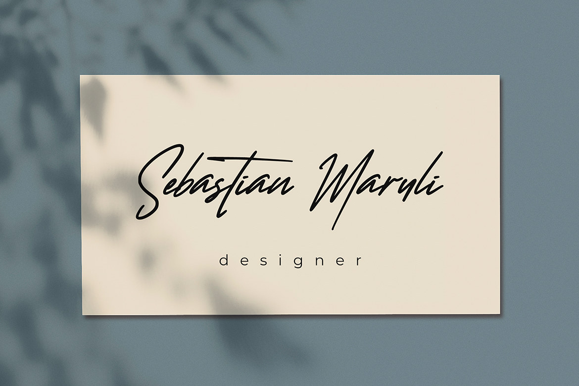 Wanted Signature Font example image 4