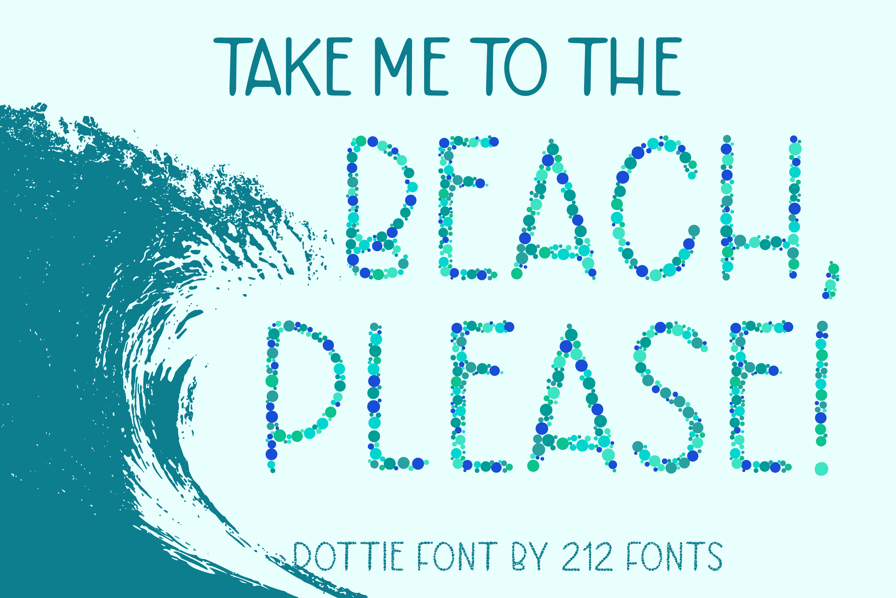 Dottie Color OTF SVG Font Family in 20 Color Variations example image 9