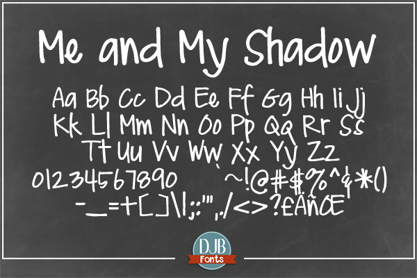 DJB Me and My Shadows Font Bundle example image 2