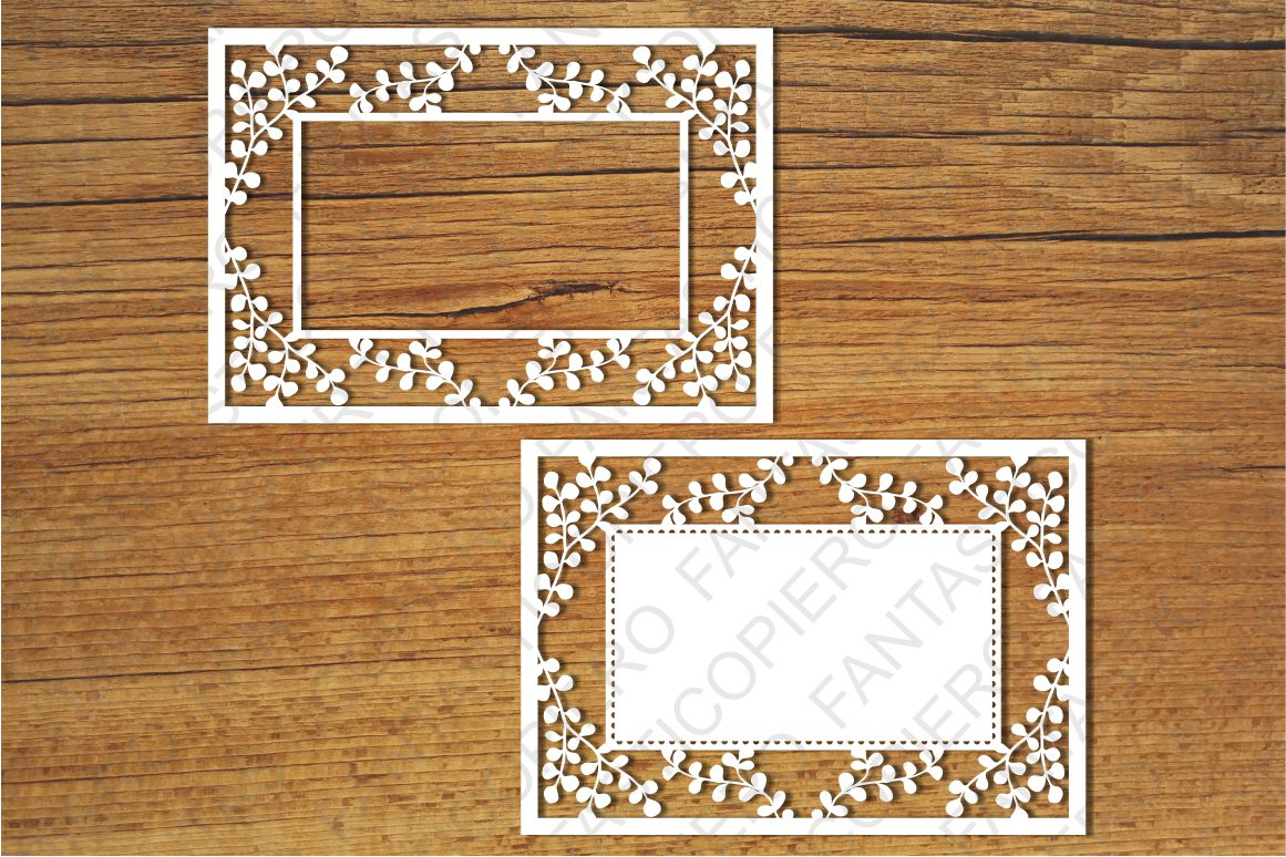 Ornamental Frame 1 SVG files for Silhouette and Cricut. example image 1