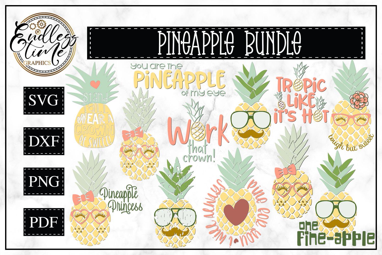 Pineapple Bundle - A fun Summer SVG Bundle example image 1