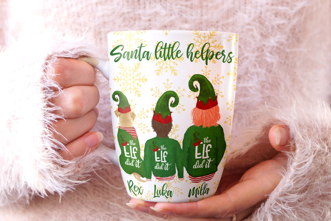 Christmas family clipart, Elf hat, Santa little helpers example image 2