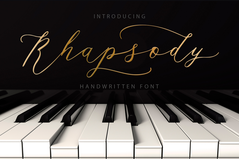 Rhapsody Font example image 1