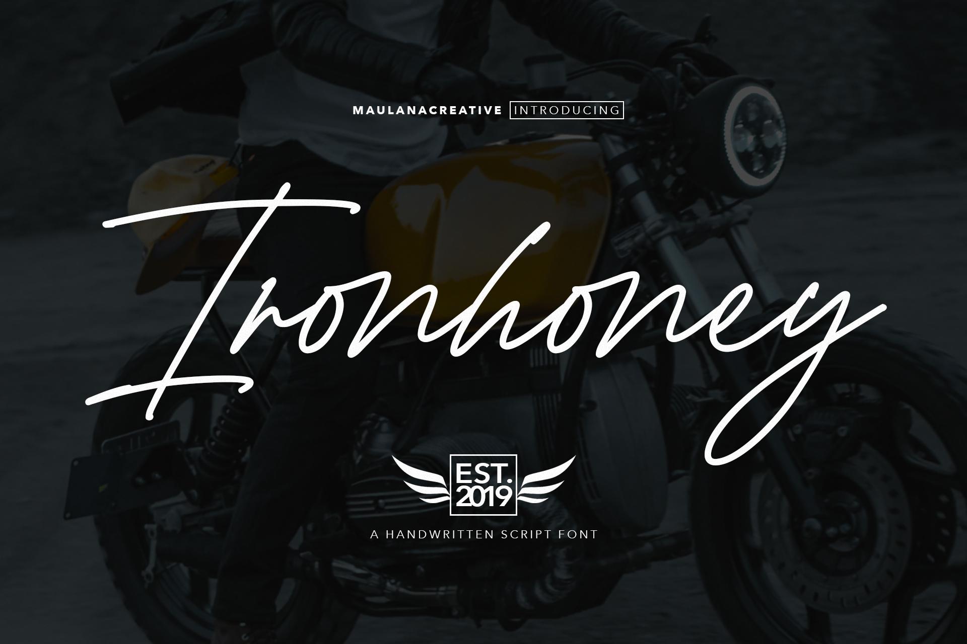 Ironhoney Signature Font example image 1