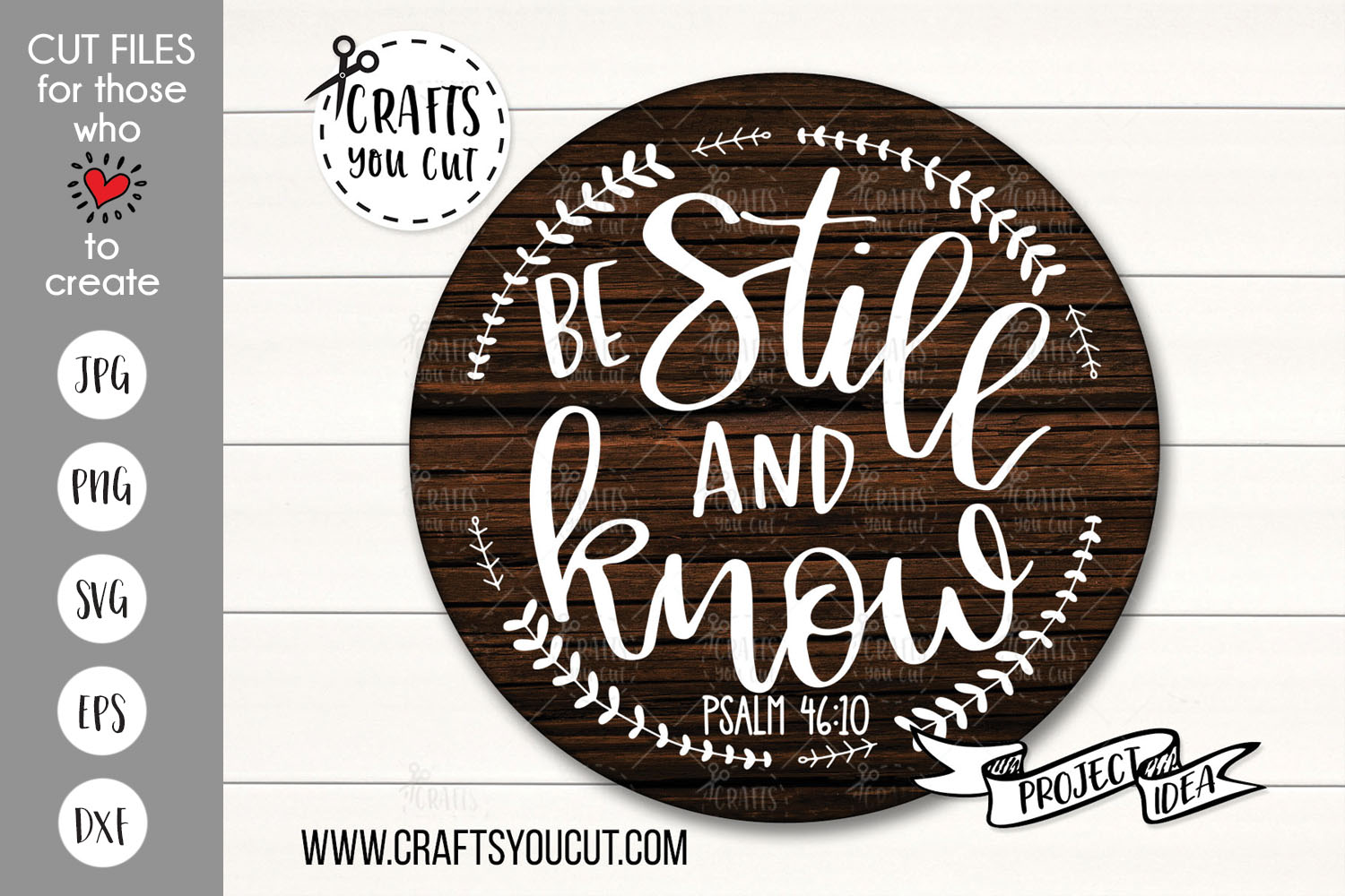 Be Still And Know - A Christian/Spiritual SVG Cut File example image 1