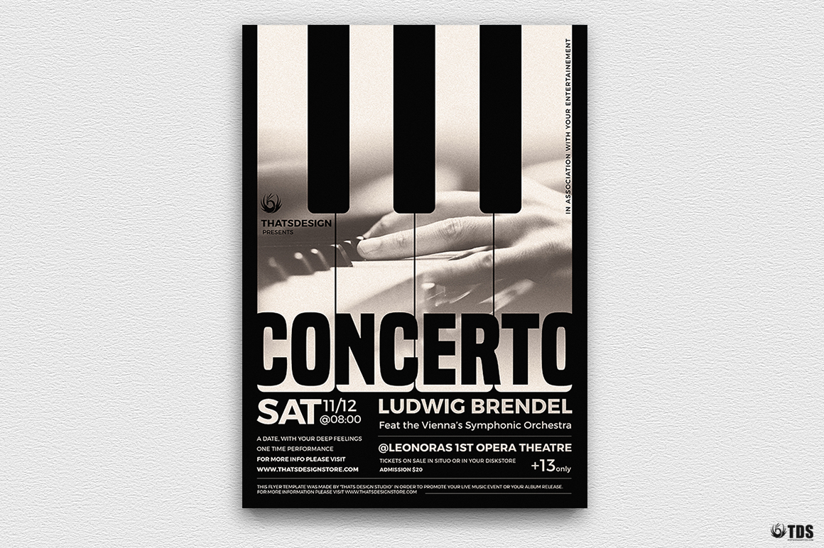 Piano Concerto Flyer Template V1 example image 2