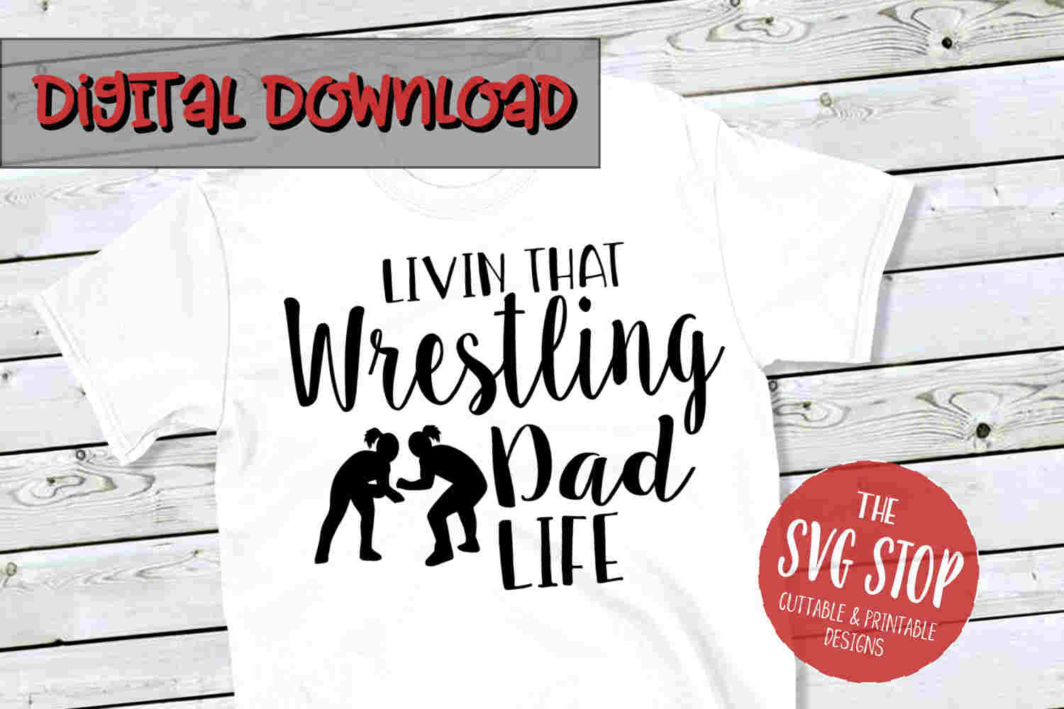 Wrestling Dad SVG PNG DXF example image 1