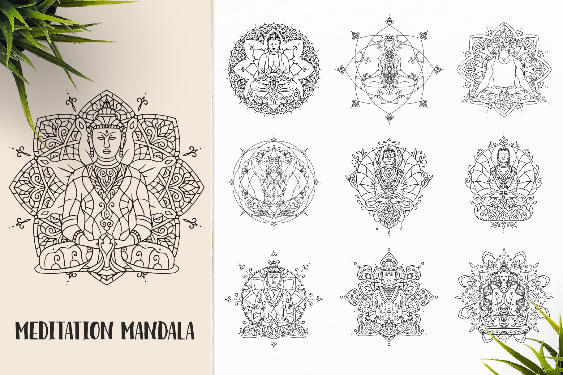 530 Vector Mandala Ornaments Bundle example image 7