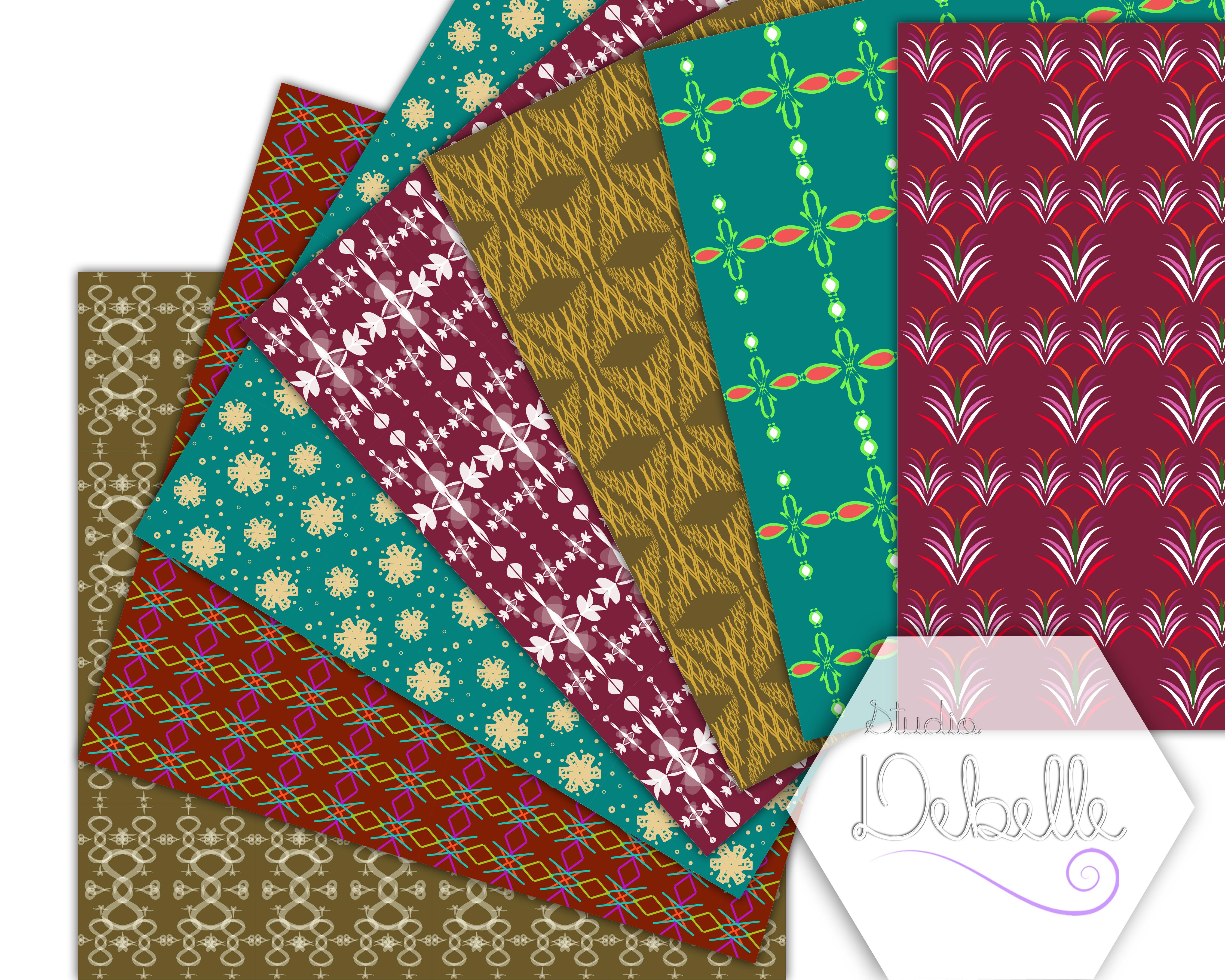 Elegant Patterns digital paper pack seamless pattern example image 3