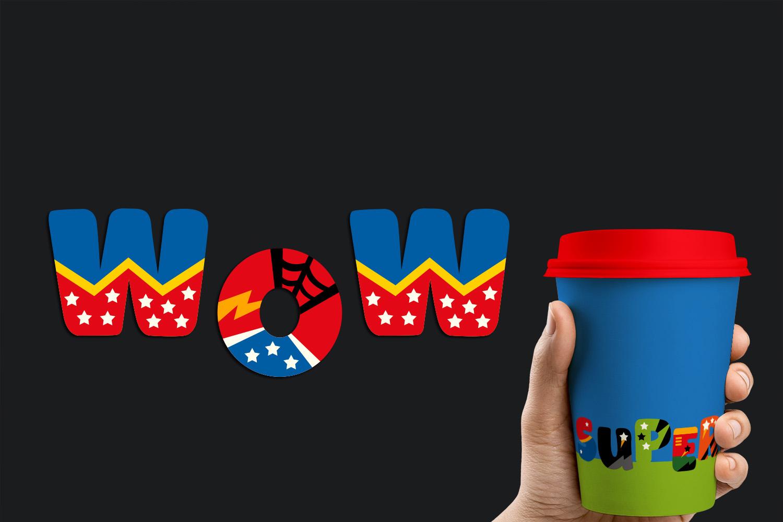 Superhero Alphabet and Punctuation - Graphics Bundle example image 14