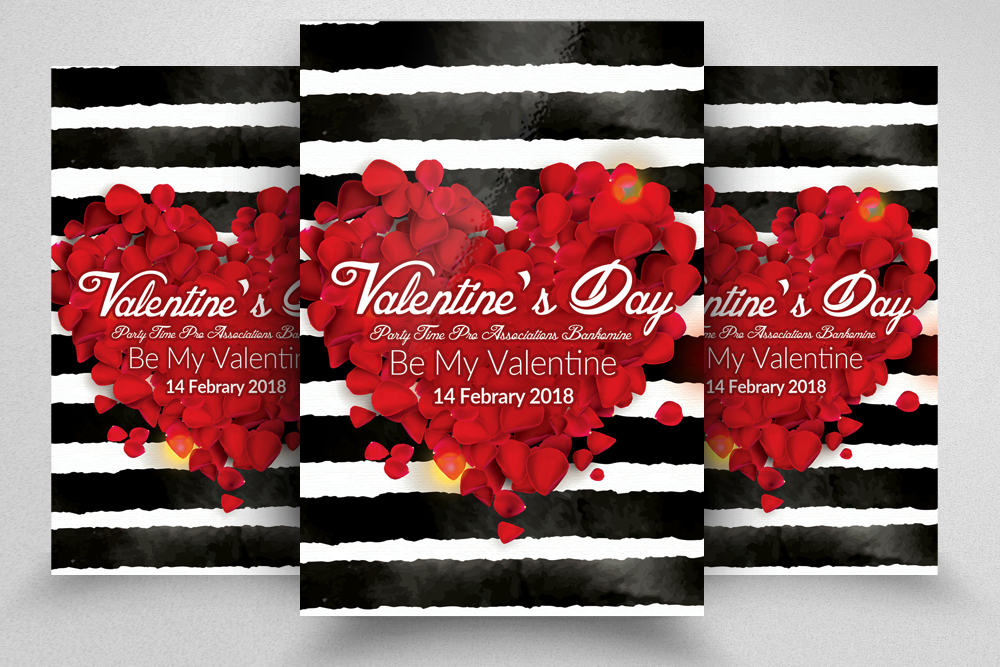 Valentine's Day Flyer Template example image 1