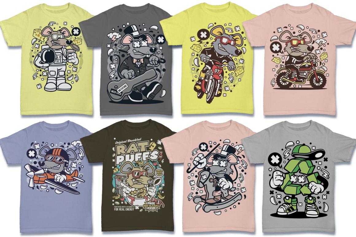 Cartoon Vector #6 Tshirt Design Bundle example image 20