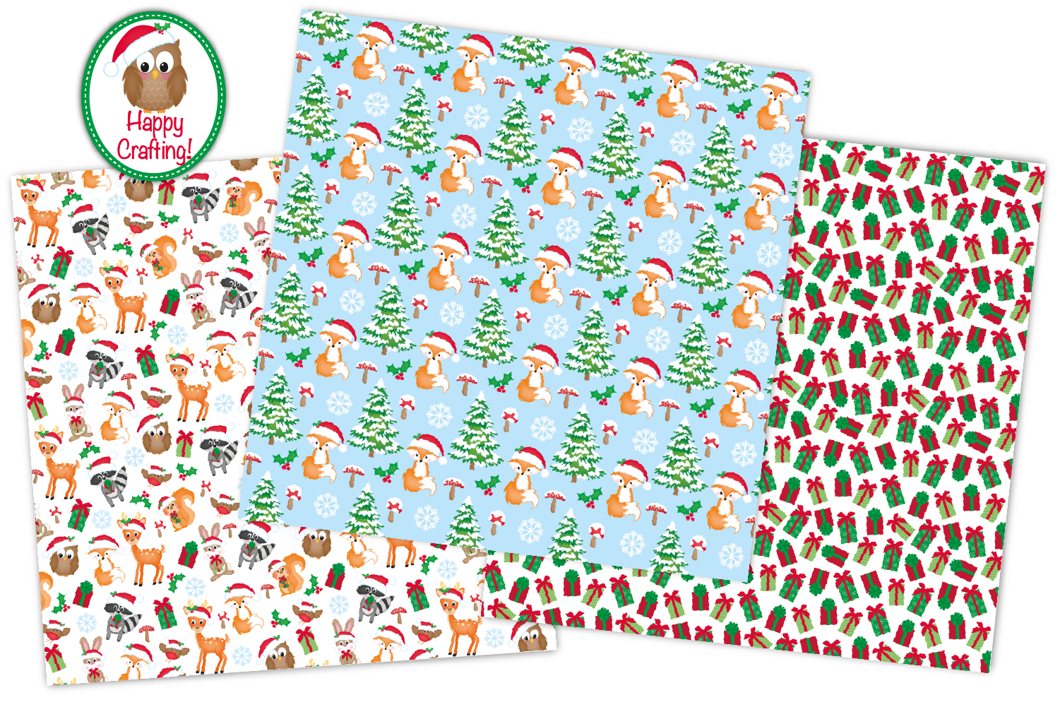 Christmas digital papers, Christmas patterns example image 5