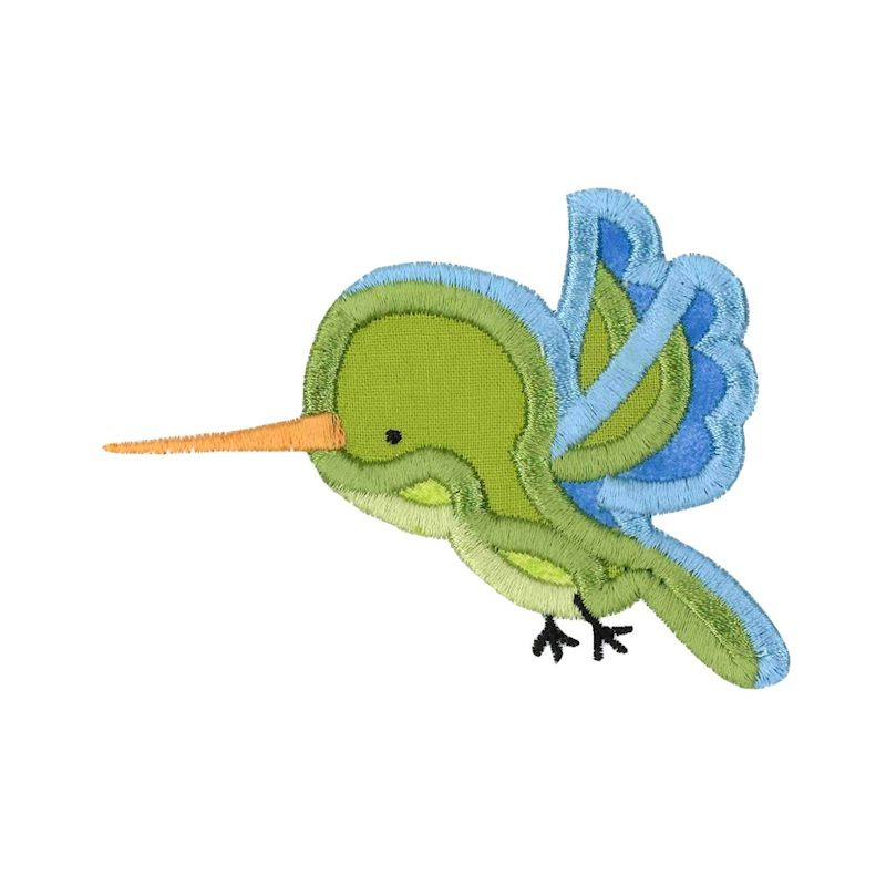 Boxy Birds And Reptiles Applique - 13 Embroidery Designs example image 6