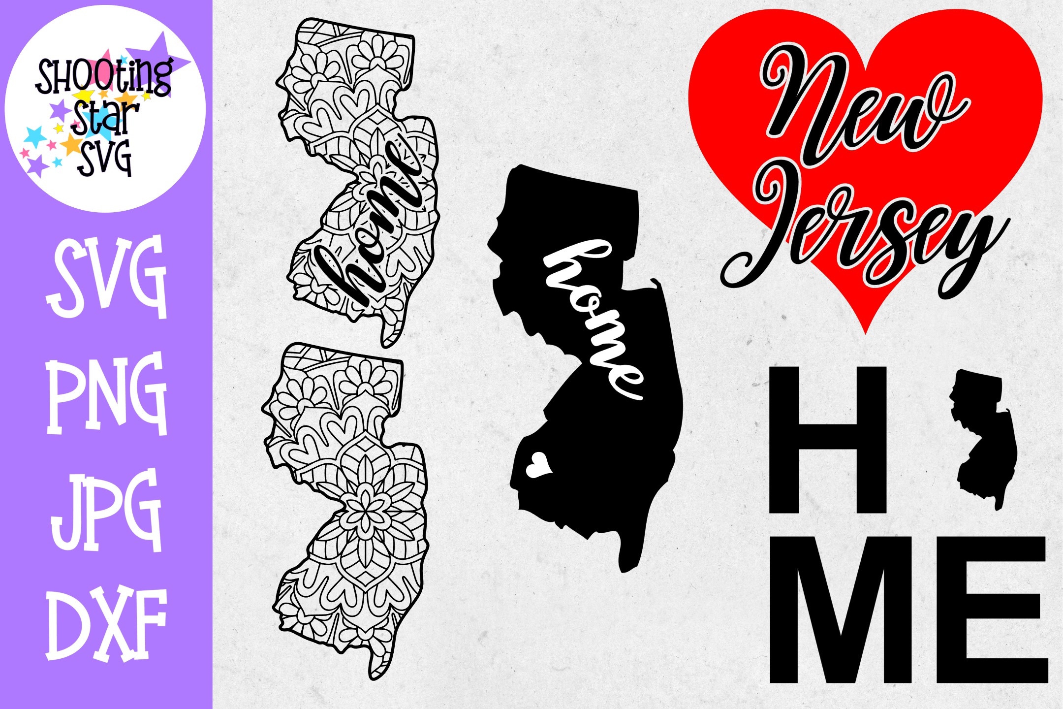 New Jersey US State SVG Decal Bundle - 50 States SVG example image 1