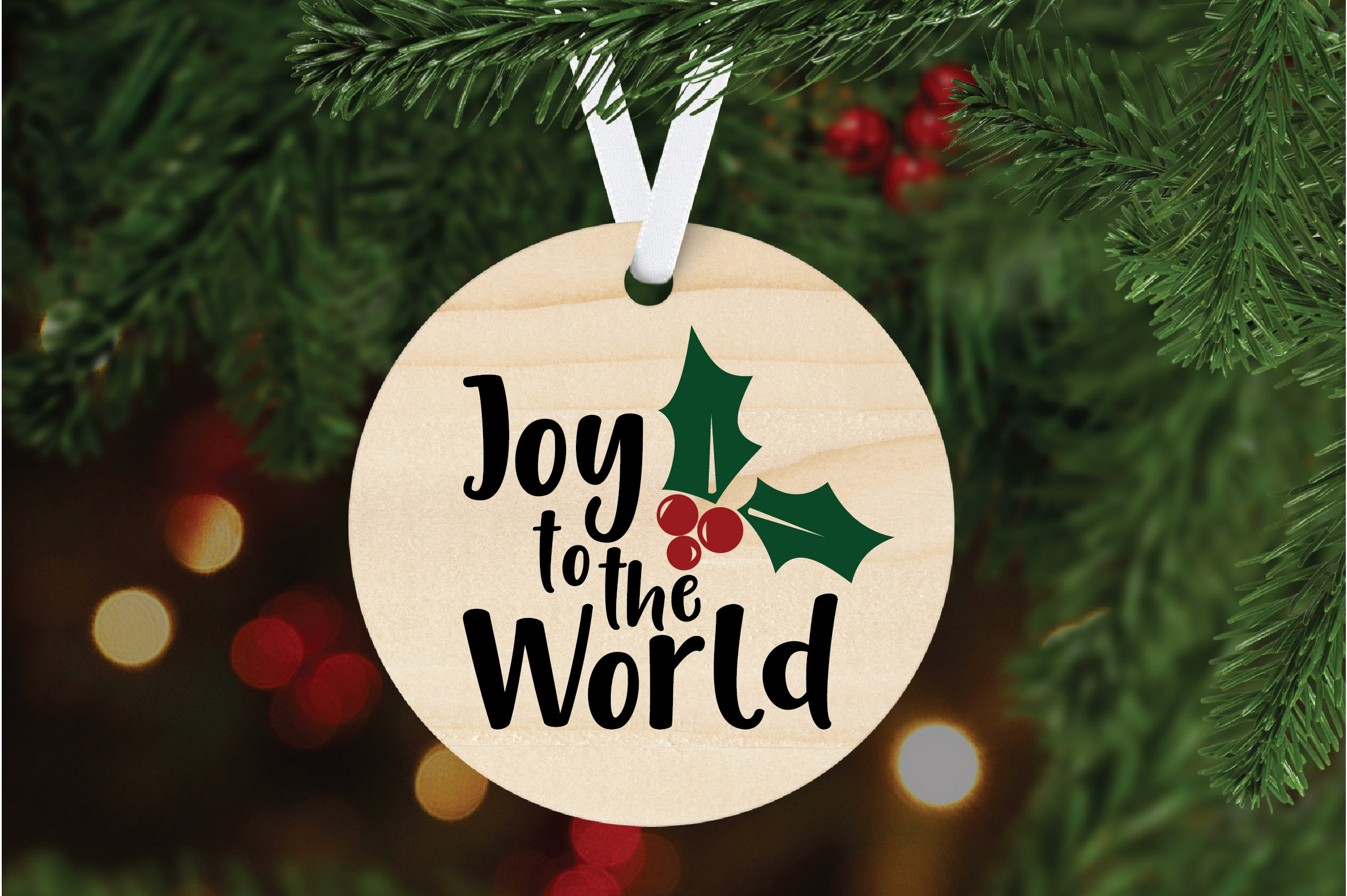 Joy to the World SVG Cut File - Christmas SVG example image 5