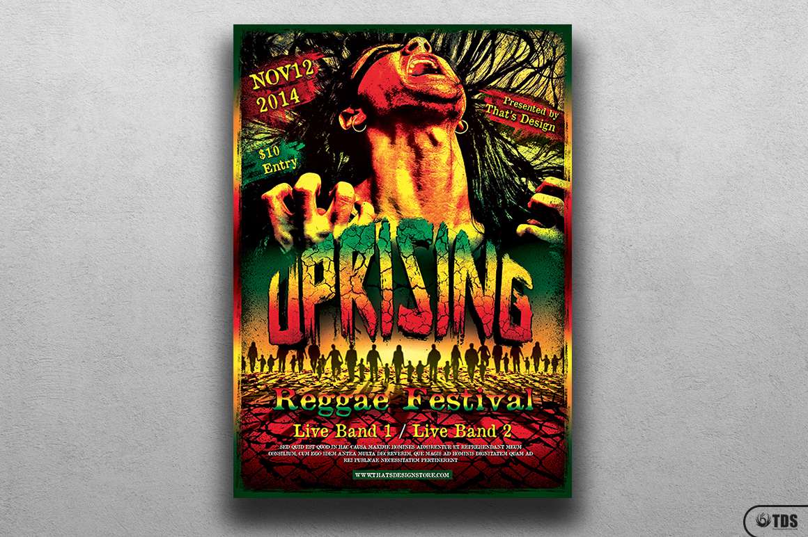 Reggae Uprising Flyer Template example image 1