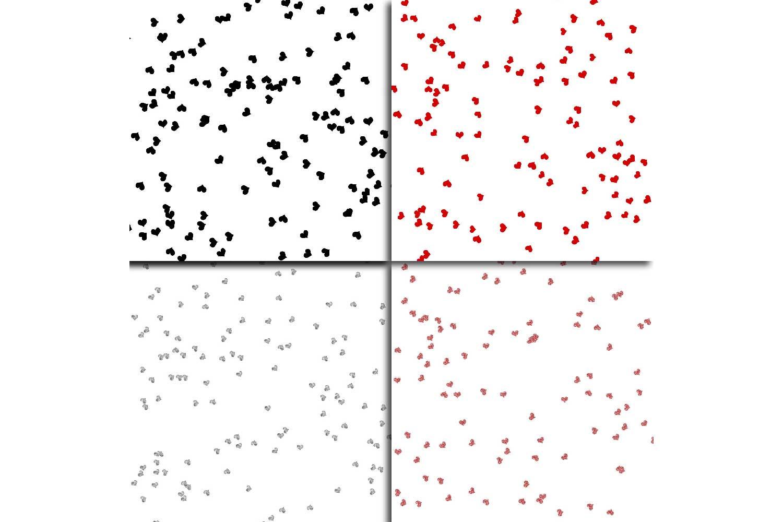 Glitter Heart Confetti Overlay Clipart example image 5