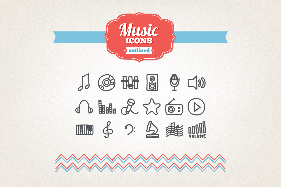 Hand Drawn Music Icons example image 1