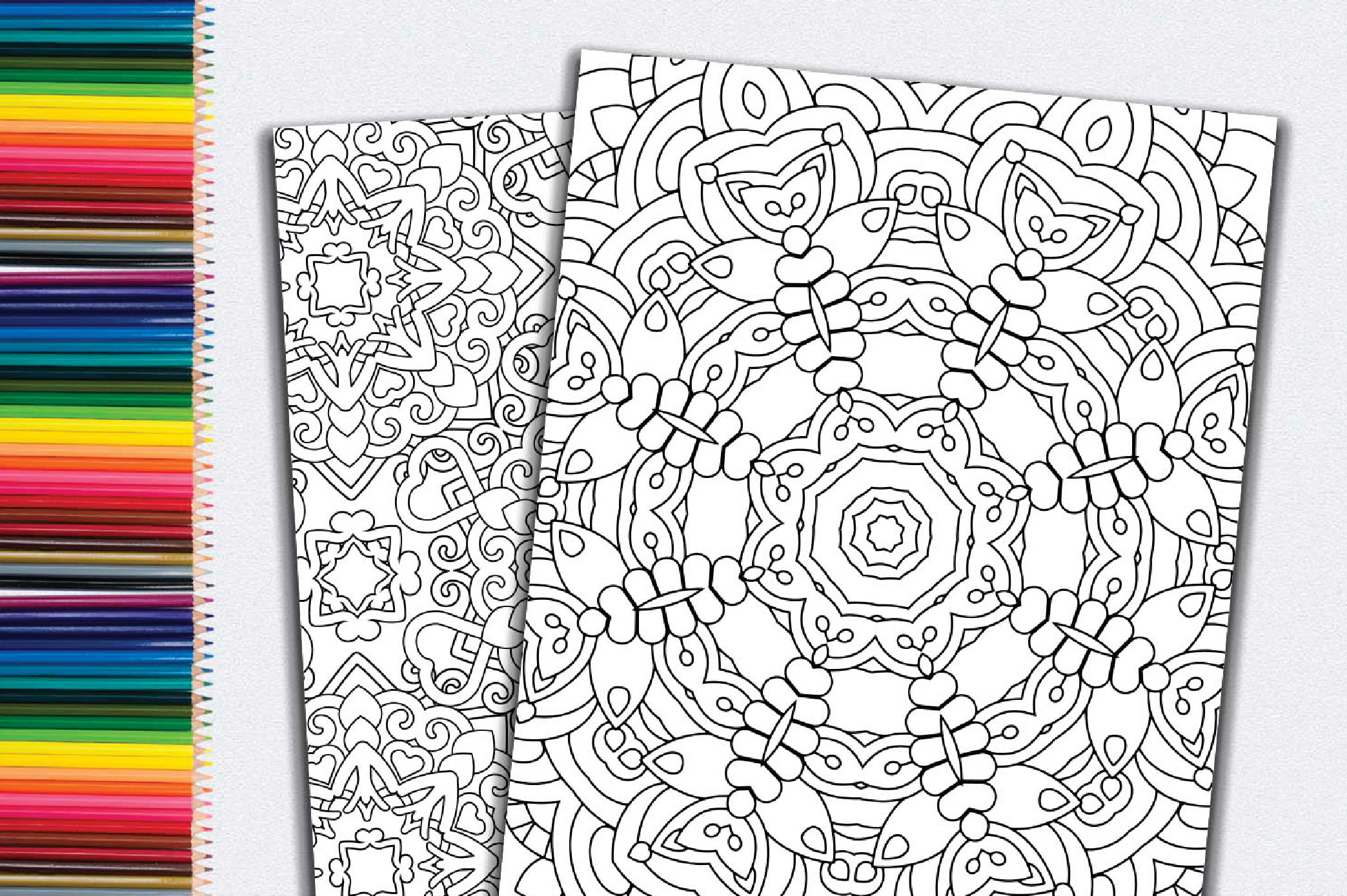 50 Geometric Coloring Pages example image 11