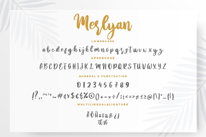 Merlyan Brush Calligraphy example image 7
