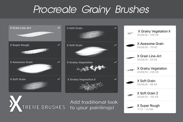 Procreate Grain Brushes example image 2
