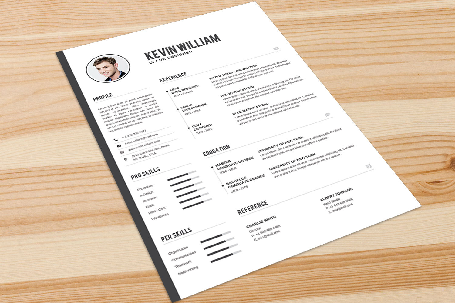 Resume Template example image 3