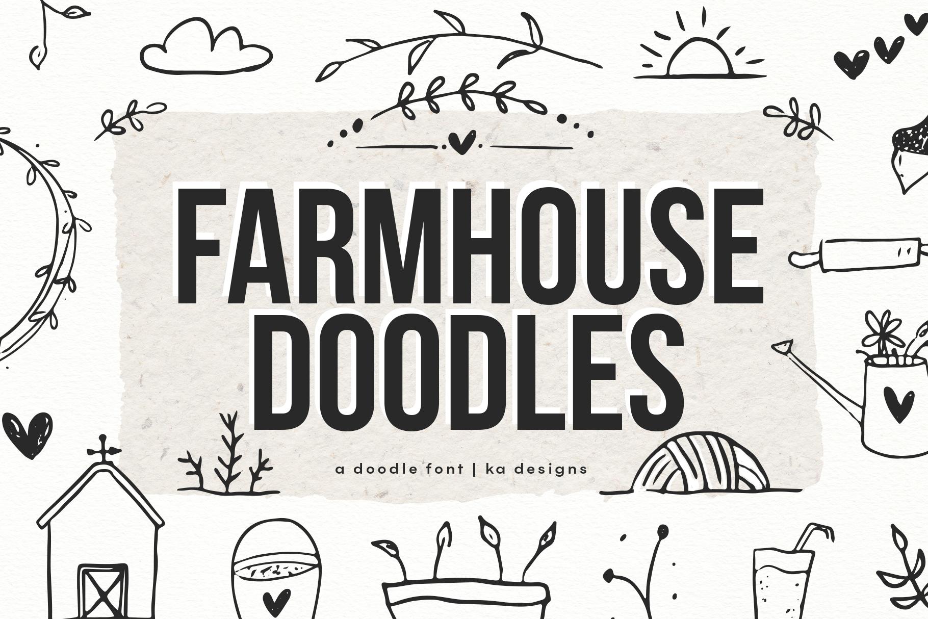 Farmhouse Doodles - Dingbat Font example image 1