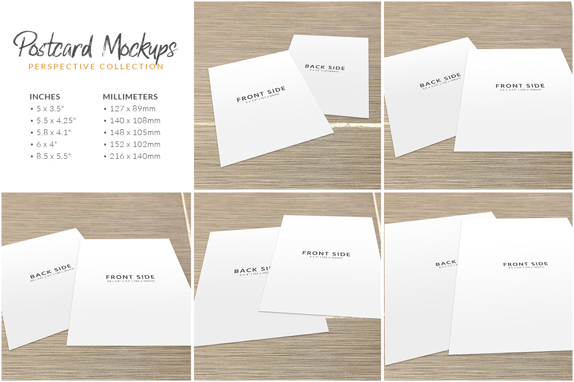 Postcard Mockup Bundle example image 6