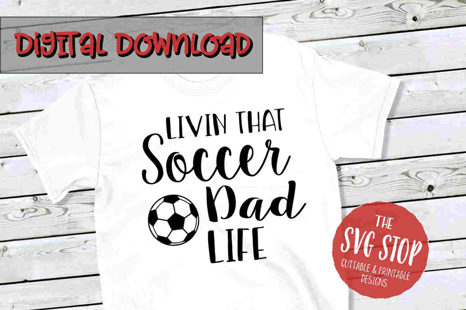 Soccer Dad Life -SVG, PNG, DXF example image 1