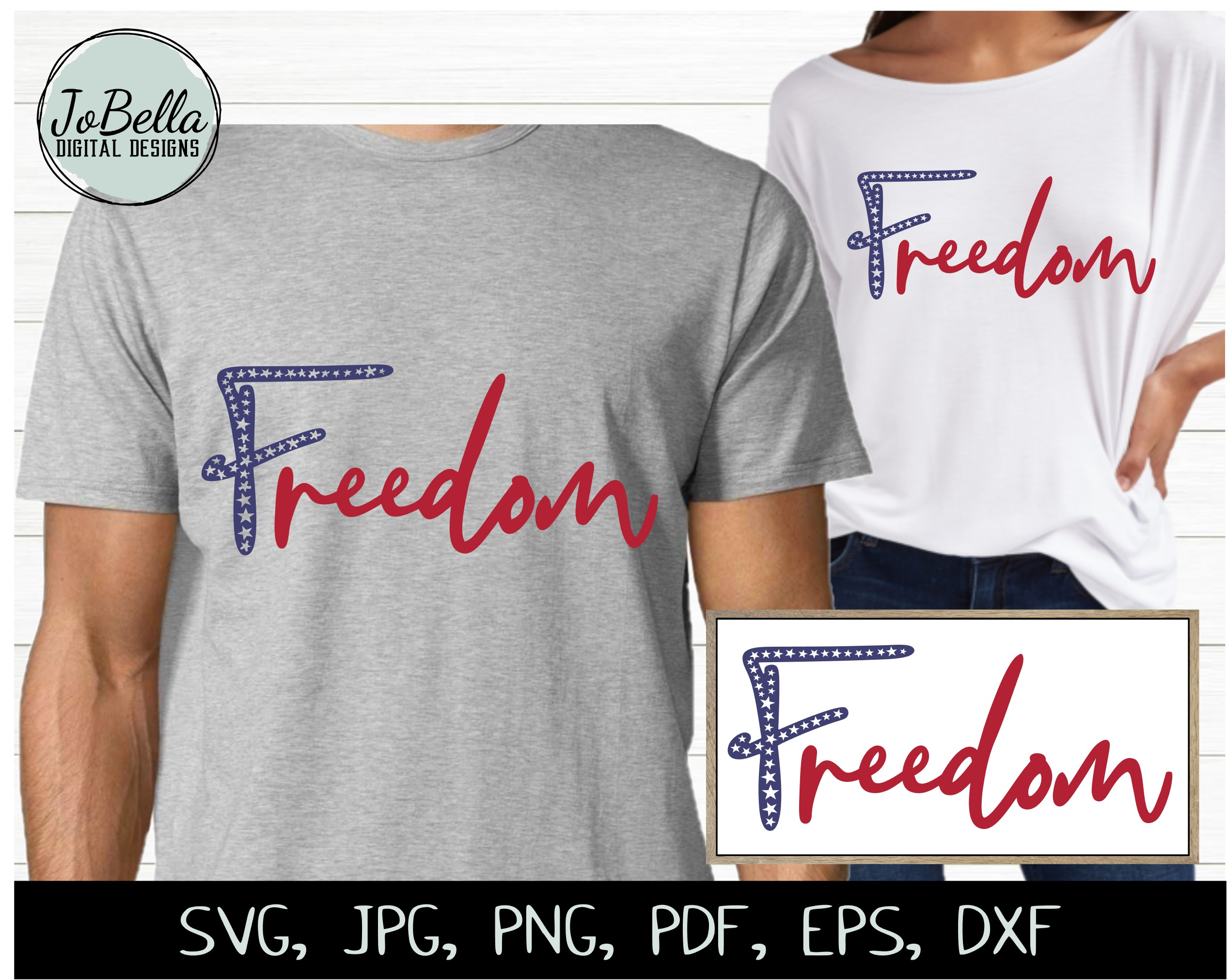 Patriotic SVG Bundle- July 4th Sublimation PNGs & Printables example image 8
