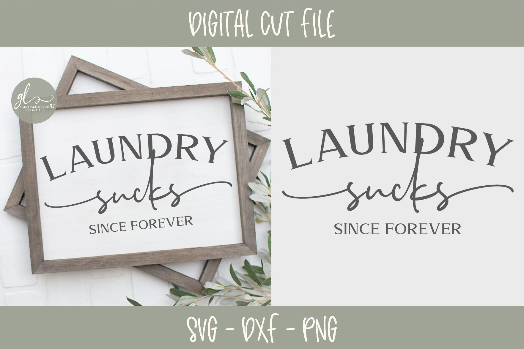 Laundry Sucks Since Forever - Laundry SVG Cut File example image 1