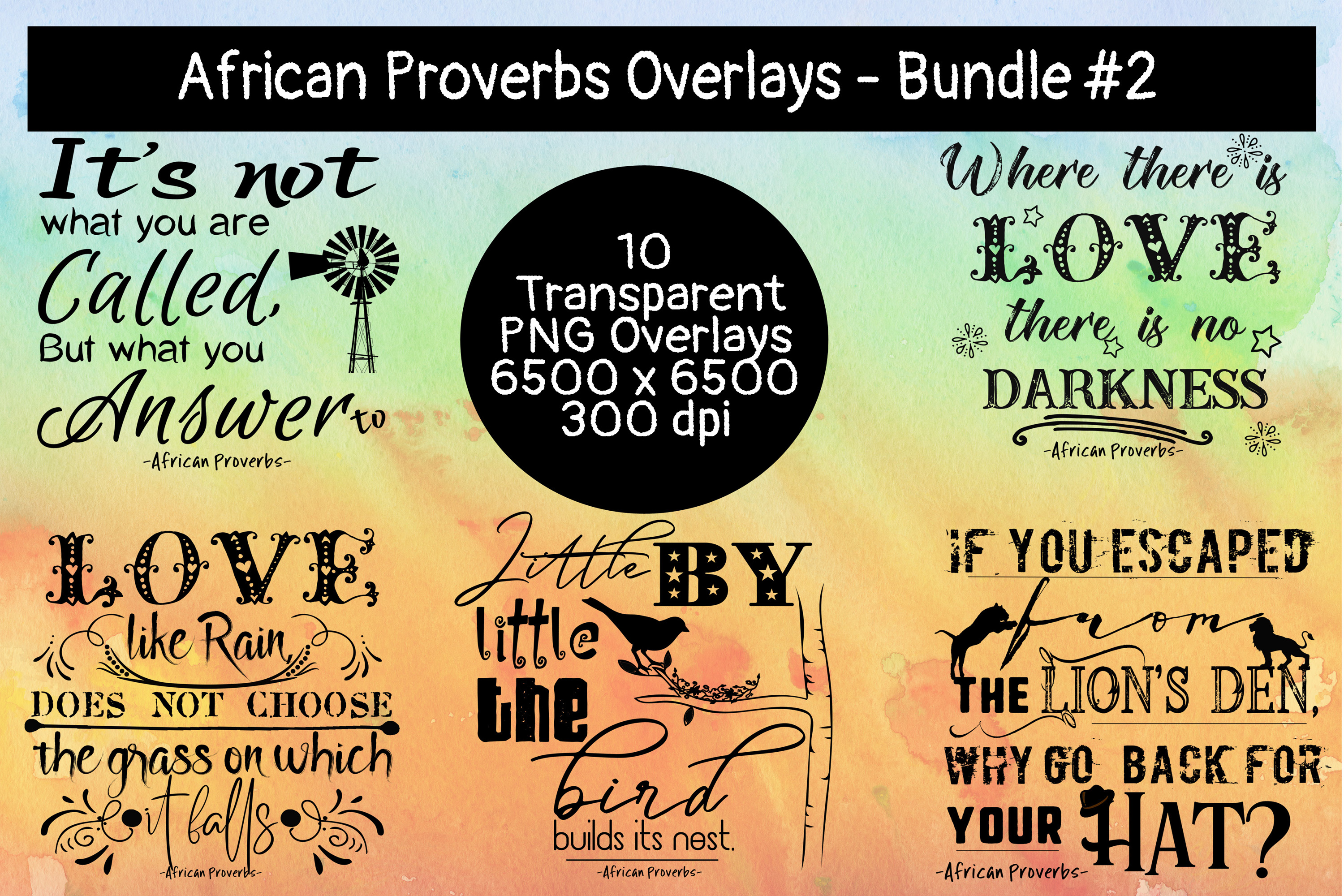 African Proverbs Overlays Bundle #2 example image 2
