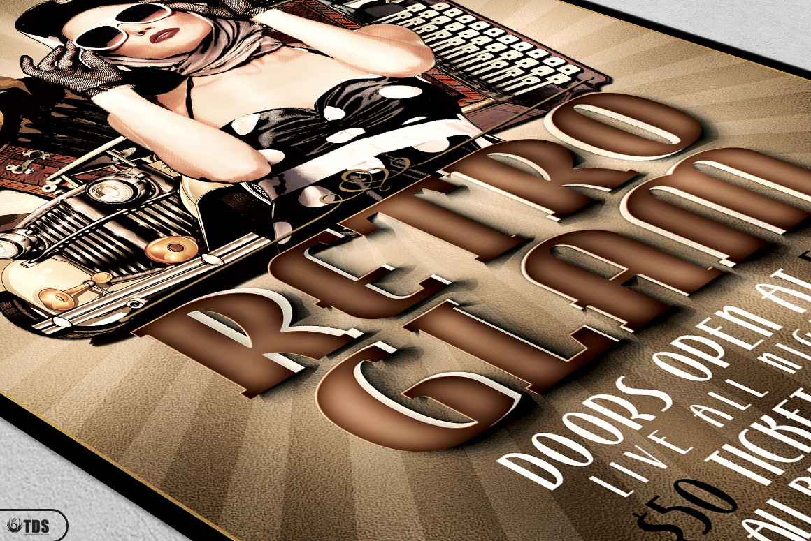 Retro Glam Flyer Template V1 example image 5