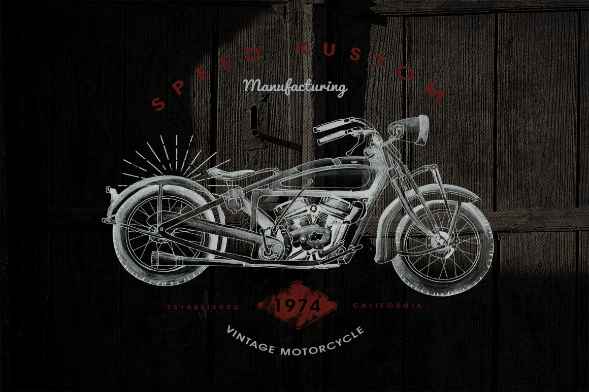 HandDraw Vintage Motorcycle Badges example image 5