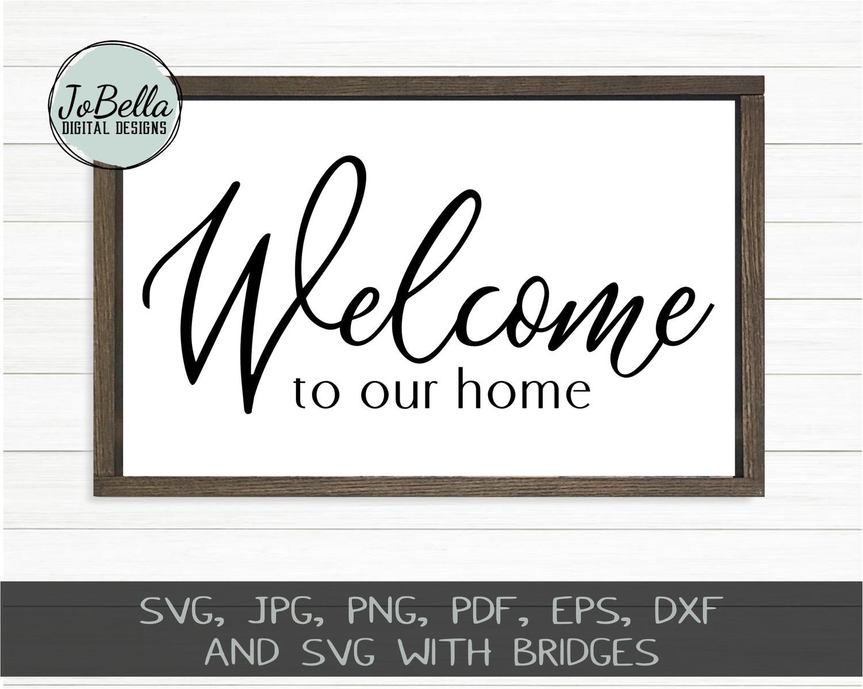 Home Wood Sign SVG Bundle - Farmhouse SVG Bundle example image 4